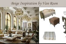 Inspiration by Van Roon  / Million $dollar mansions who inspires you and me with its beautiful interior. Van Roon selects his own furniture so we can decorate our own mansion.