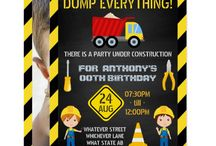 Construction Themed Birthday Party Suite