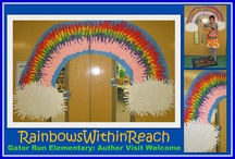 "RainbowsWithinReach.com / My company is entitled, ""Rainbows Within Reach"" and I'm all about bringing color & pizazz into the lives of children, through the ARTS: Music, Movement + Visual Arts. The pins on this board are from my blog and reflect the excellence in education that I observe on the road, making author/illustrator school visits around the country."