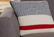 Tricot / Coussin tricoté
