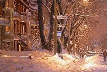 Savoie, Richard / Зимняя сказка в технике пастель