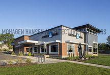 Mohagen Hansen's Exterior Architecture / Check out photos of the work Mohagen Hansen has done on buildings around Minnesota