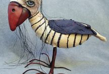 Mixed Media Art Dolls / Artful dolls made from materials far and wide.