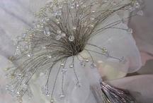 Morsiuskimppu - kristallit ja helmet