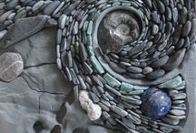 Sacred Mosaics / Inspired by nature these mosaics are created of natural stone, semi precious stone and crystals.