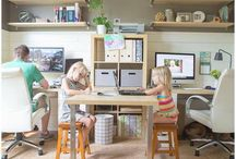 Family office/craft room / by Dannielle Johnson Messoroch