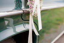 Autoschmuck / Blumenschmuck fürs Brautauto