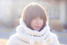 Knit crochet scarves