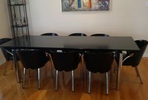 Really nice 9 pcs Granite top dining table set / 4500$ I have a really nice 9 pcs dining set. It is in really great condition. The table is made of real granite top. the legs are in chrome. the set comes with 8 chairs. 2 x captain chairs. 6 x regular chair. Paid over 25000$ the measurements are: Table is 96 inches long by 36 inches wide. 6 x chairs are 29 inches high x 17 inches depth x 18 inches wide 2 x 29 inches high x 17 inches depth x 20 inches wide 2005 clark blvd dock 7 (behind direct interiors). Thank you