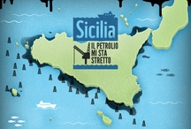 Sicilia: il petrolio ci sta stretto / Dove tutte le navi passano, dove tutti i pescatori pescano, lo Stato Italiano vorrebbe trasformare il tragitto, da libero qual è, ad una corsa ad ostacoli permettendo le trivellazioni in mare, per estrarre petrolio.
