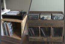 Vinylkast / Vinylkast steigerhout