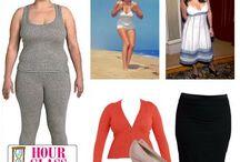 мода по типу фигуры песочные часы / подбор одежды