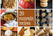 Pumpkin recipes. Omgyum / by Jacque Turner