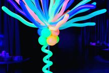 Neon and UV Glowing Balloon Decor / Go bold and bright with Neon and/or UV reactive balloon decor! Dance? School Party? 80's Party? We can do that!  Want more? Visit www.balloonsbytommy.com