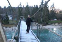 Walks in and around Radovljica / Lipnica Castle (Pusti grad), the Fux footbridge (Fuxova brv) over the Sava river, and more