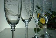 Hand cut glass