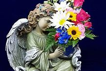 Angels and Figurines / Steve's Flowers has a wide array of angels and figurines #Indianapolis #indy #greenwood