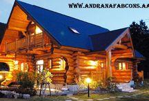 cabane lemn, case lemn, natural, eco friendly / Cabana din Bustean - realizata în România, o construcție naturală, ecologica, prietenoasa cu mediul, disponibila in toata Europa !!!