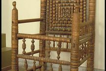 Medieval chairs and armoires