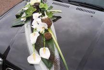 décoration voiture mariée