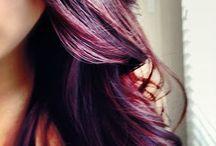 burgundy hair with highlights