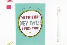 Playfully illustrated greeting cards by Angela Chick