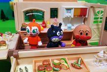 シルバニア ハンバーガーワゴンとアンパンマン アニメ&おもちゃ Anpanman toys