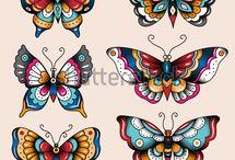 Butterfly oldskul tattoo