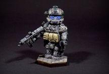Lego soldiers & guns