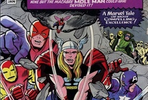 Classic Avengers comic covers