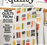 Quilt books and magazines.