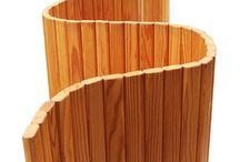 Mamparas y biombos de madera