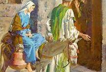 Pidiendo Posada / María y José no logran encontrar posada en Belén donde guarecerse y descansar de su largo viaje desde Nazaret..