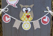 Heart and owls
