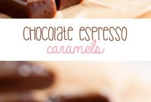 chocolate expresso caramels
