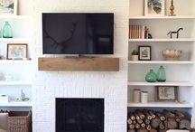 living room open fire
