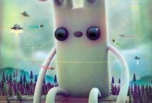 Créatures / J'adore les animaux imaginaires et vous en fais un tableau