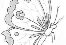 szkice/ptaki,motyle,kwiaty/