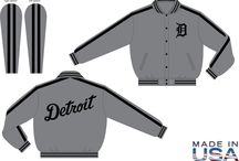 Detroit Tigers Varsity Jackets Official MLB Old English D Detroit - Made in USA - Donna Sacs / Men's Detroit Tigers Wool Varsity Jackets   Exclusive design: Official MLB Old English D Detroit - Made in USA  Available in sizes medium to 6X   Custom order color combinations  Order yours today