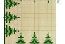 Święta Bożego Narodzenia - Haft krzyżykowy / Wszystko związane z tematyką św. Mikołaja i świąt
