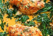 Food -Chicken, veg creamy dishes