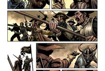 Warhammer Online: Age of Reckoning / Boom Studios did a graphic novel to tie in with the Warhammer Online computer game. These are pages from the segment I drew: Northern Fire