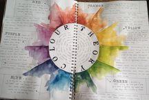 Colour theory art