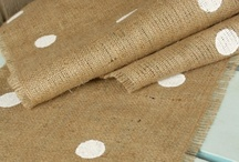 Ideas with burlap / by Debbie Woods