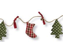 Homespun Christmas Decor / Warm & cozy, patchwork, applique, all in home-made cuteness..... ornaments, pillows, tabletop, mantle scarves, gift tags, tree skirts, stockings & more!