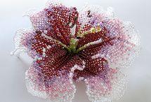 цветы броши