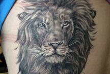 Τατουάζ με λιοντάρια