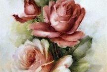 flores vintage indo para cuadros