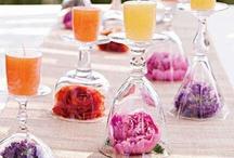 Hochzeitsdekoration - Wedding decoration / Schöne Blumendekorationen für den Tisch, Kirche und was sonst alles geschmückt werden kann.  Wonderful ideas for wedding decoration