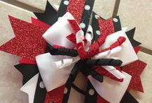 Cheer bows   / by Kelsy Pullen